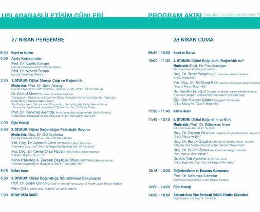 Konferansın ana konuşmacıları Prof. Dr. Korkmaz Alemdar ile Durham Üniversitesi'nden (İngiltere) Dr. Gerald Moore olacak.