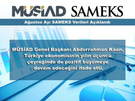 SAMEKS Hizmet Endeksi; 2017 yılı Ağustos ayında, bir önceki aya göre 3,0 puan azalarak 55,4 değerine gerilemiştir.