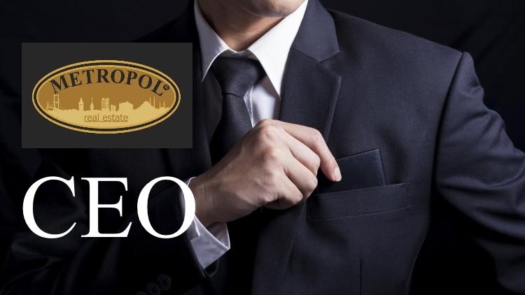 Metropol Real Estate ve CEO görseli.